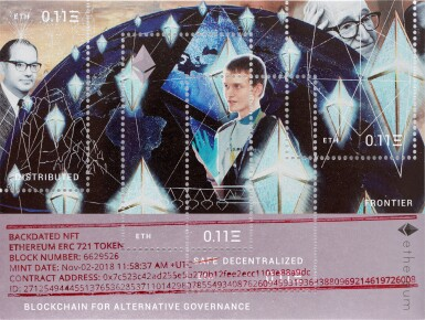 View 1. Thumbnail of Lot 9. Backdated NFT/Ethereum Stamp.