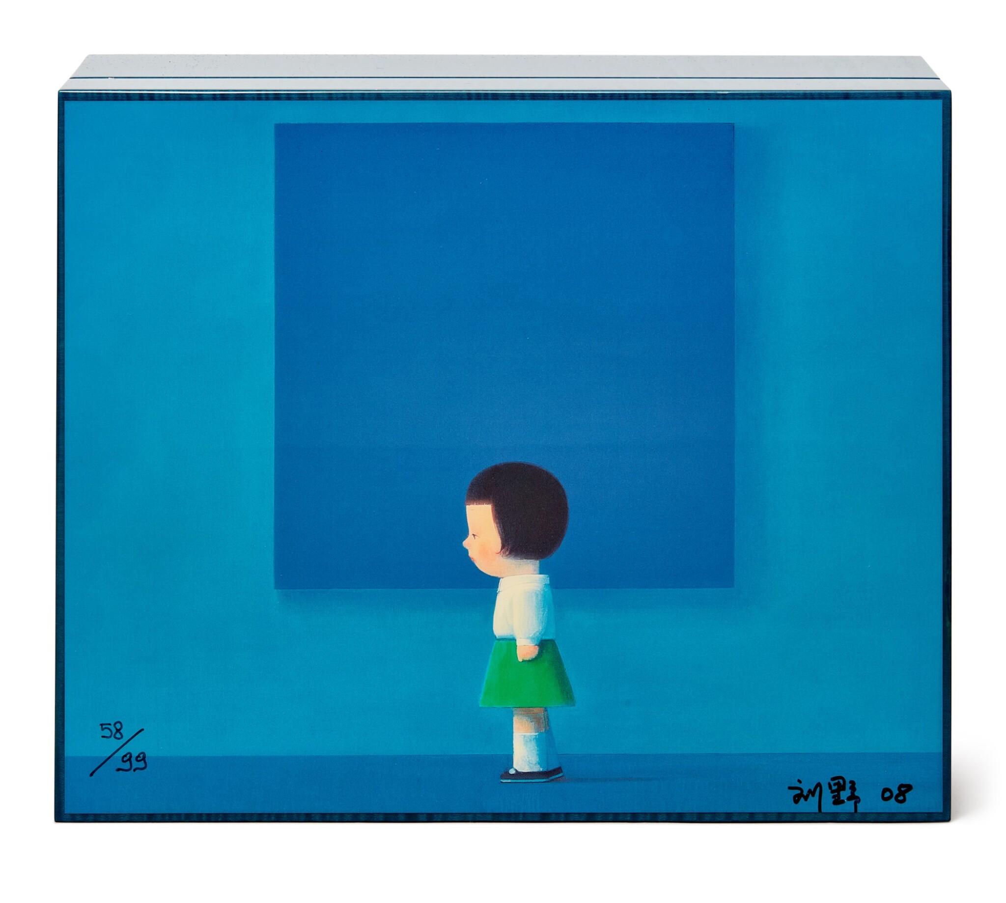 View full screen - View 1 of Lot 1. Liu Ye 劉野 X Elie Bleu l Blue Sycamore Humidor 藍色懸鈴木雪茄盒.