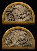 Lucas Faydherbe (1617-1697), Southern Netherlandish, Malines, 1675 | Pair of Reliefs with the Adoration of the Shepherds and Christ Carrying the Cross