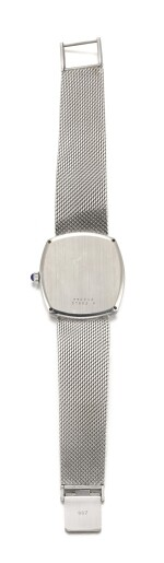 BAUME & MERCIER | BAUMATIC, REF 37082/9, WHITE GOLD BRACELET WATCH WITH VIVID DIAL AND DATE CIRCA 1975