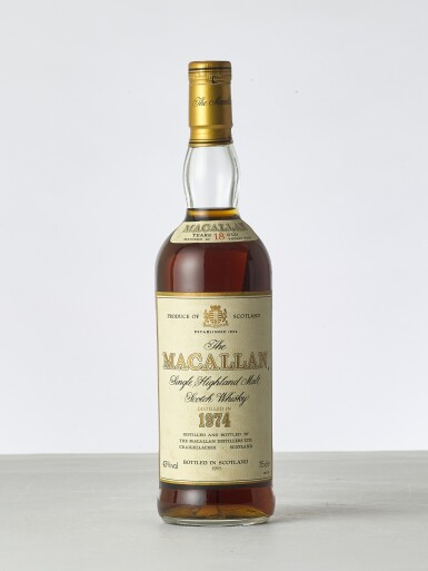 View 1. Thumbnail of Lot 2002. The Macallan 18 Year Old 43.0 abv 1974 (1 BT).