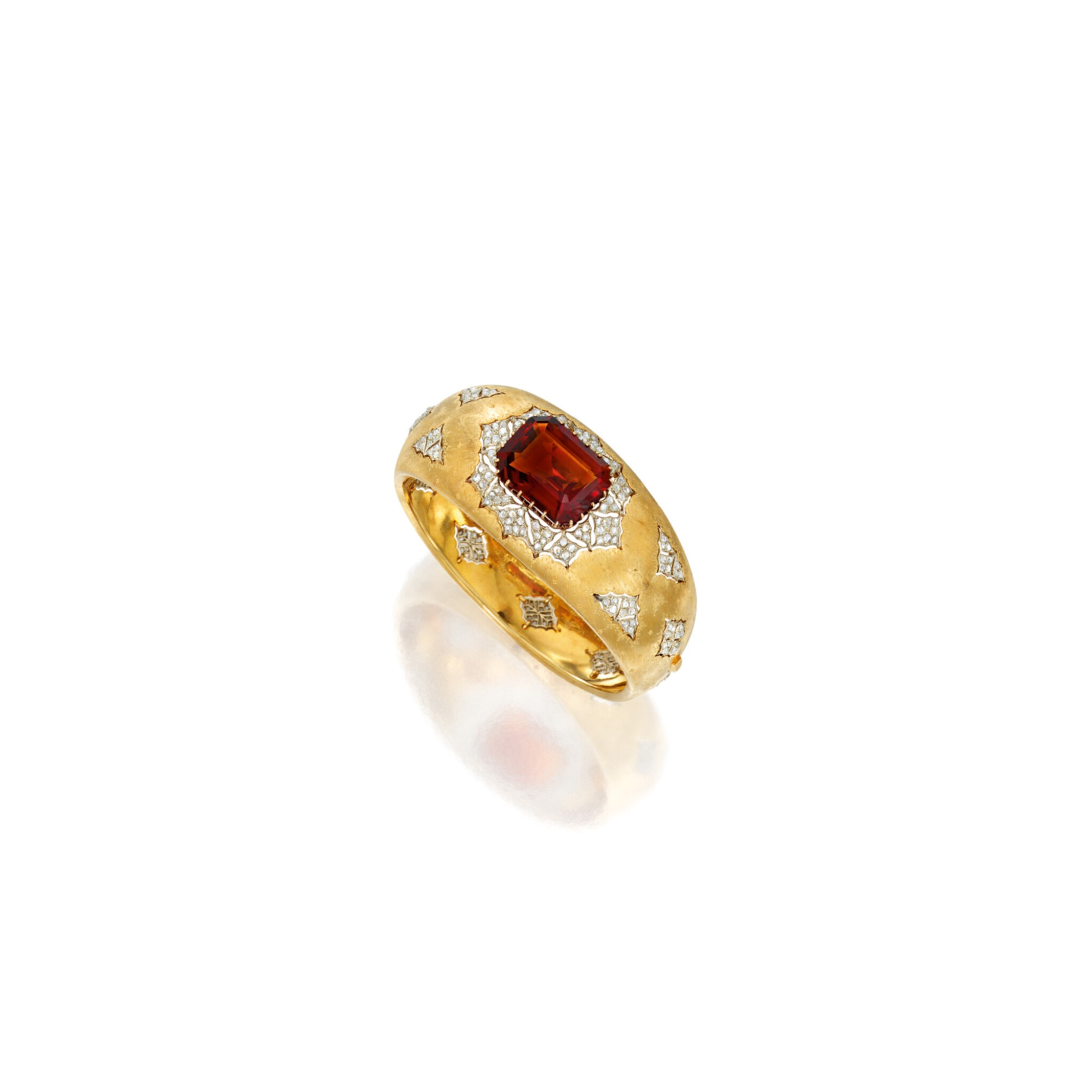 TWO-COLOR GOLD, CITRINE AND DIAMOND BRACELET, BUCCELLATI | 雙色黃金鑲黃水晶配鑽石手鏈,Buccellati