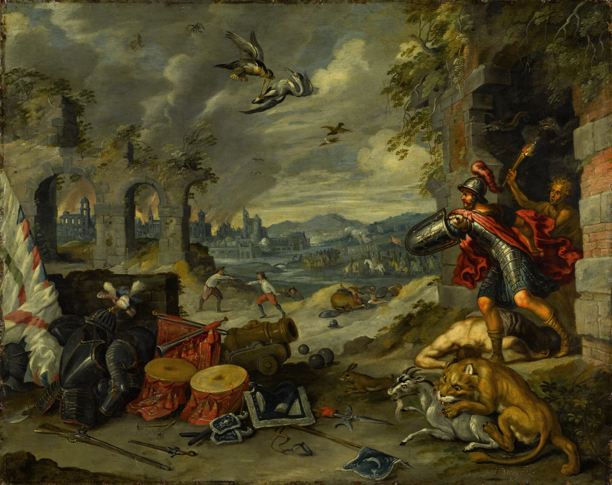 View 1 of Lot 131. An Allegory of War.