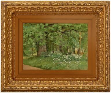 View 2. Thumbnail of Lot 3. IVAN IVANOVICH SHISHKIN | A BENCH IN THE SHADE.