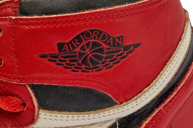 View 20. Thumbnail of Lot 1. Michael Jordan's Game Worn 1985 Player Sample Air Jordan 1s | Sizes 13, 13.5.