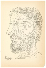 PABLO PICASSO  |  PROFIL D'HOMME BARBU (B. 1830; BA. 727)