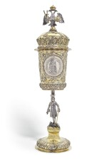 An Imperial Presentation German parcel-gilt silver cup and cover, Georg Winkler, Augsburg, 1690