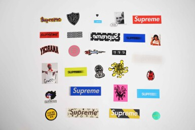 View 1. Thumbnail of Lot 143. SUPREME STICKERS [29 PIECES].
