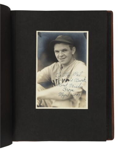 View 8. Thumbnail of Lot 145. The New York Yankees | Photo album of the 1931 New York Yankees, signed by 19 members of the team, including 10 future Hall of Famers, made for Yankees coach Jimmy Burke.
