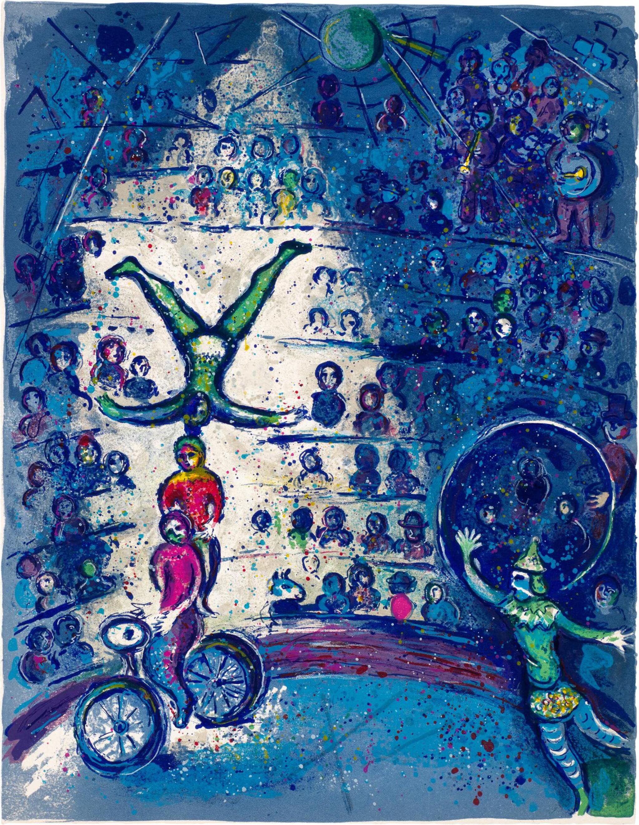 View full screen - View 1 of Lot 22. MARC CHAGALL   LE CIRQUE: ONE PLATE (M. 491; C. BKS. 68).