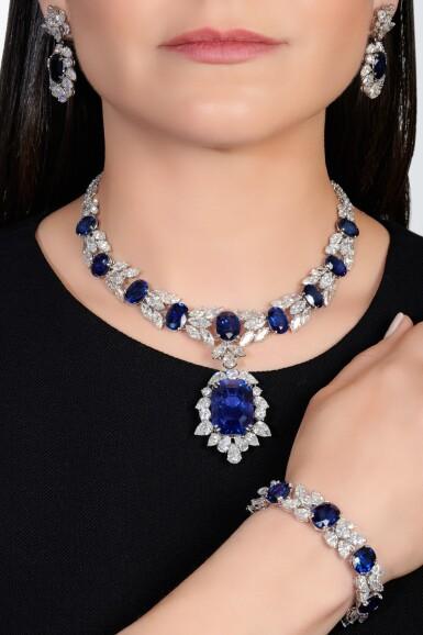 View 4. Thumbnail of Lot 168. Jahan   Important sapphire and diamond parure   Jahan   藍寶石配鑽石首飾套裝.