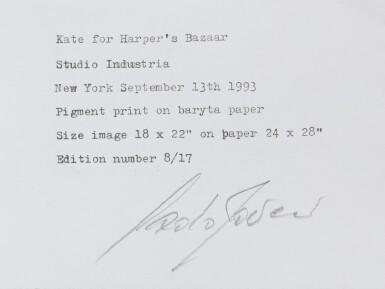 View 4. Thumbnail of Lot 1. Kate for Harper's Bazaar, New York, 1993.