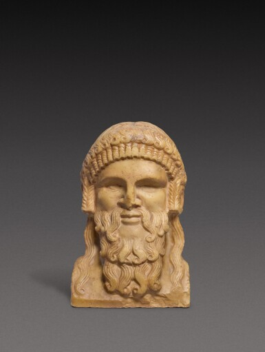 View 1. Thumbnail of Lot 98. A Roman Giallo Antico Marble Herm Bust of Dionysos, circa 2nd Century A.D..