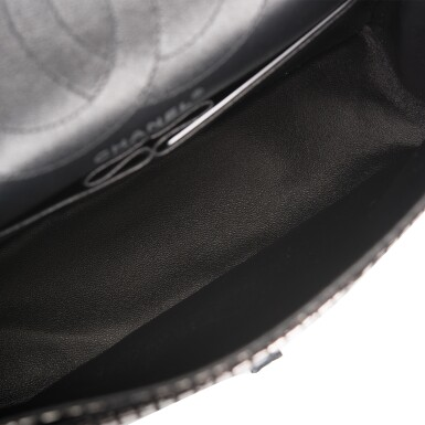 View 8. Thumbnail of Lot 96. CHANEL    MIRROR MEDIUM 2.55 REISSUE DOUBLE FLAP BAG OF CALFSKIN LEATHER WITH SILVER HARDWARE.