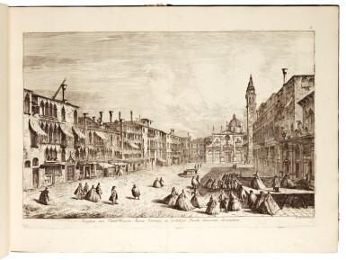 View 3. Thumbnail of Lot 217. Marieschi, Magnificentiores selectioresque urbis Venetiarum prospectus, Venice, [after 1743], green boards.