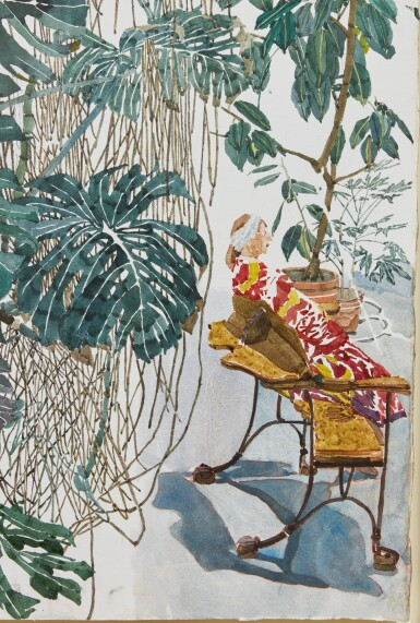 View 7. Thumbnail of Lot 14. Untitled (Plants with Skylight)         .