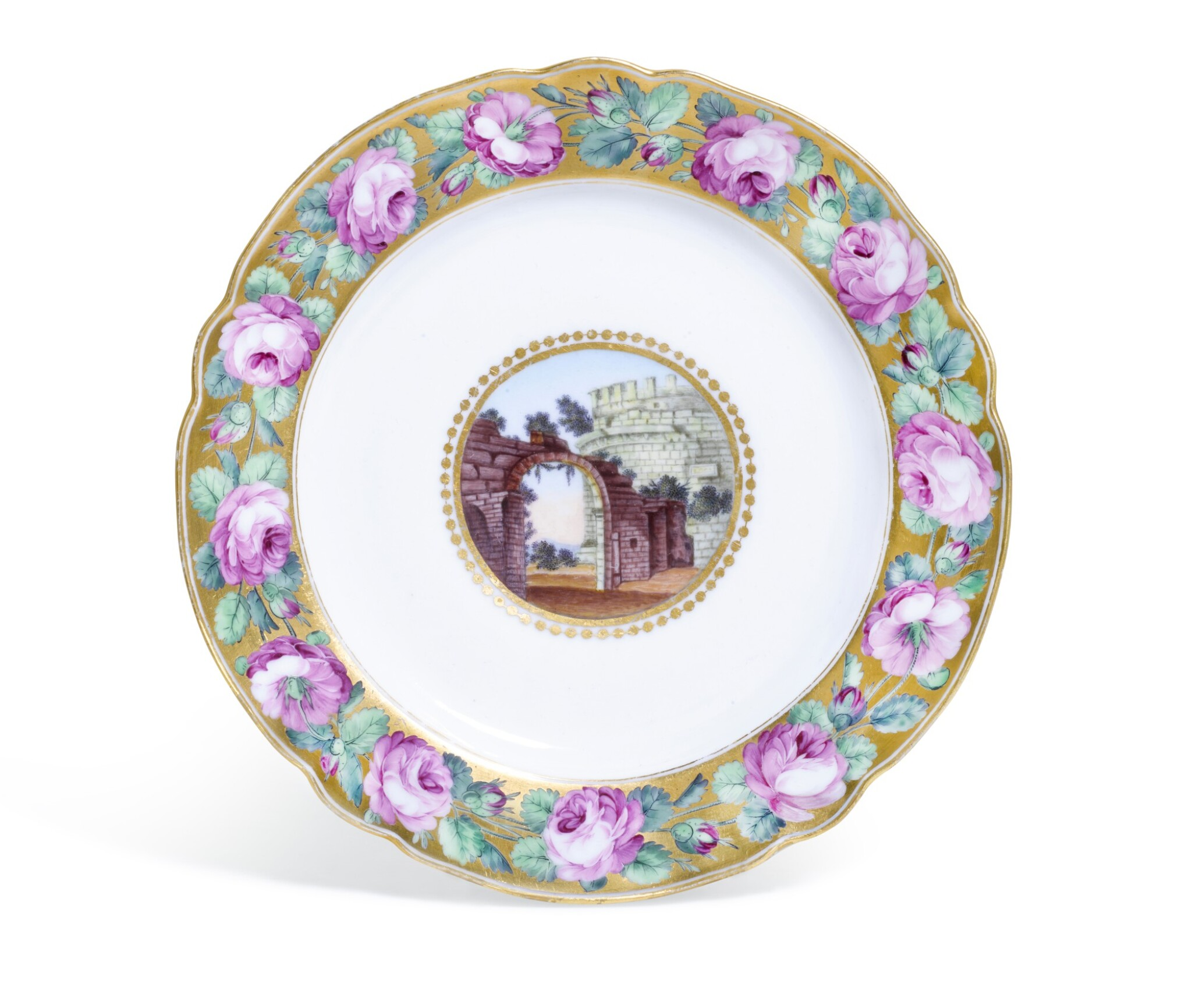 View full screen - View 1 of Lot 170. A PORCELAIN PLATE FROM THE DOWRY SERVICE OF GRAND DUCHESS ALEXANDRA PAVLOVNA, IMPERIAL PORCELAIN FACTORY, ST PETERSBURG, PERIOD OF CATHERINE II (1762-1796).