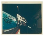 "[GEMINI XI] SPACE COWBOY, INSCRIBED BY DICK GORDON. VINTAGE NASA ""RED NUMBER"" PHOTOGRAPH, 13 SEPTEMBER 1966."