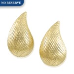 TIFFANY & CO.   PAIR OF GOLD EARCLIPS