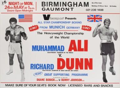 MUHAMMAD ALI VS. RICHARD DUNN (1976) POSTER, BRITISH
