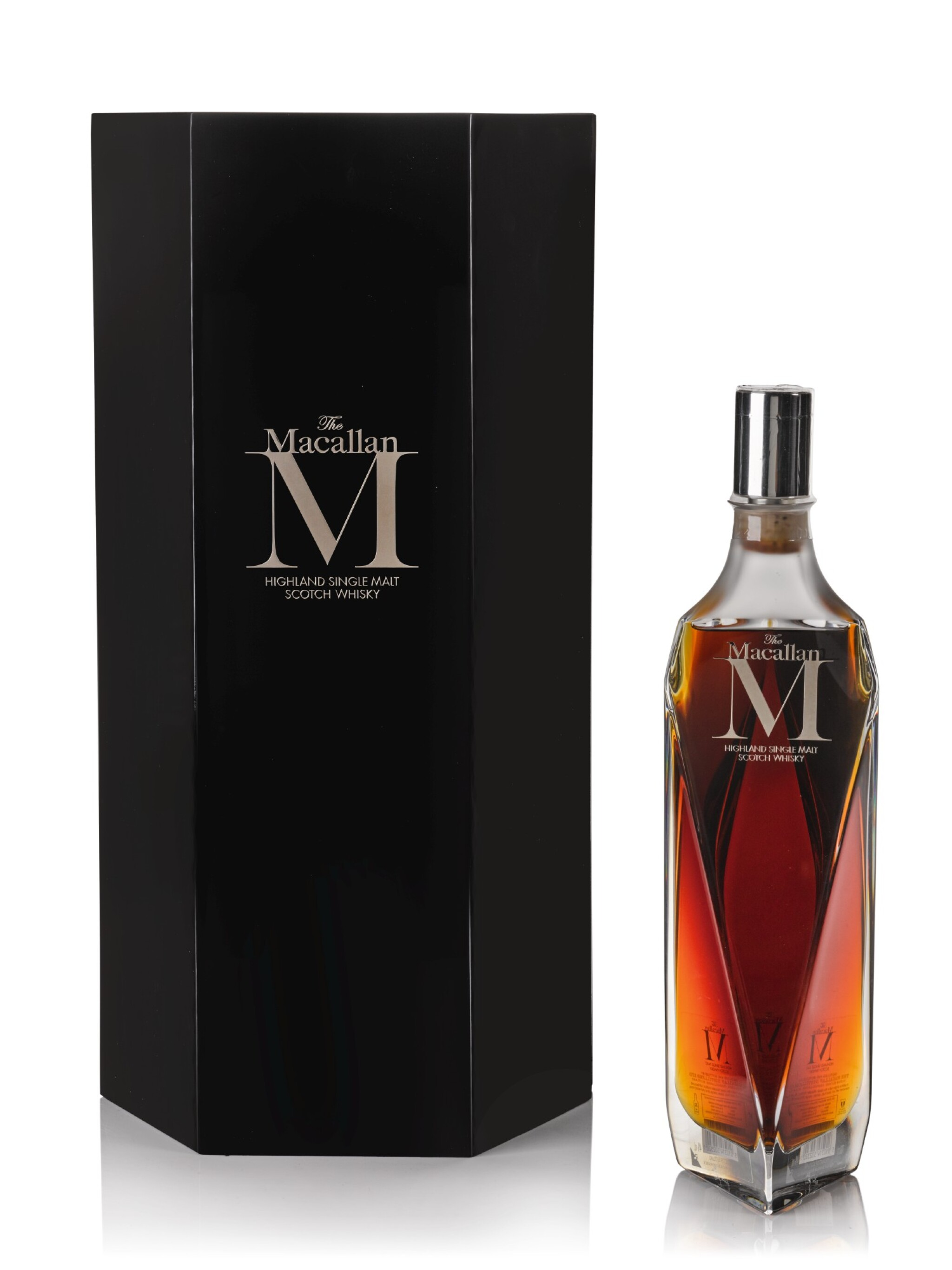 View full screen - View 1 of Lot 24. The Macallan M Decanter 2013 Edition 1824 Series 44.5 abv NV .