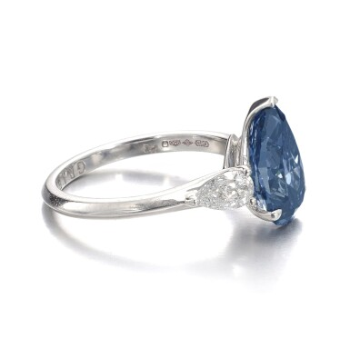 View 2. Thumbnail of Lot 157.  Graff | Fine fancy deep blue diamond ring | 格拉夫 | 深彩藍色鑽石戒指.