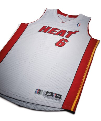 "View 3. Thumbnail of Lot 1. LeBron James ""King James"" Game Worn 2013-2014 Season Jersey."