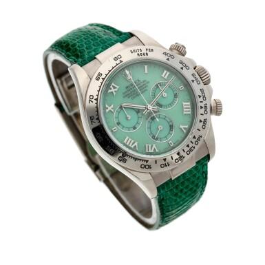 View 3. Thumbnail of Lot 208. Reference 116519 'Daytona Beach'  A white gold automatic chronograph wristwatch, Circa 2000.