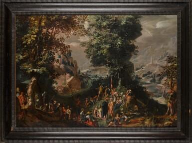 View 2. Thumbnail of Lot 146. Saint John the Baptist preaching to the Multitude.