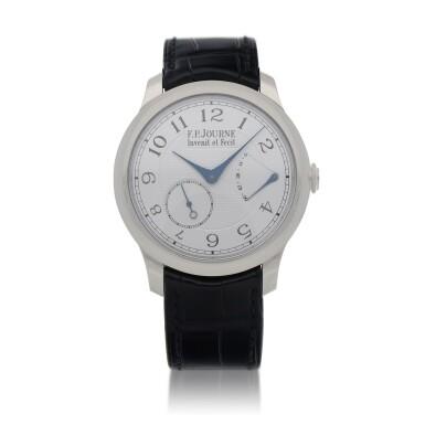 View 1. Thumbnail of Lot 43. Chronomètre Souverain Platinum wristwatch with power reserve indication Circa 2020   F.P. Journe「Chronomètre Souverain」鉑金腕錶備動力儲存顯示,年份約2020.