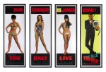 YOU ONLY LIVE TWICE (1967) SET OF 4 DOOR PANELS, US
