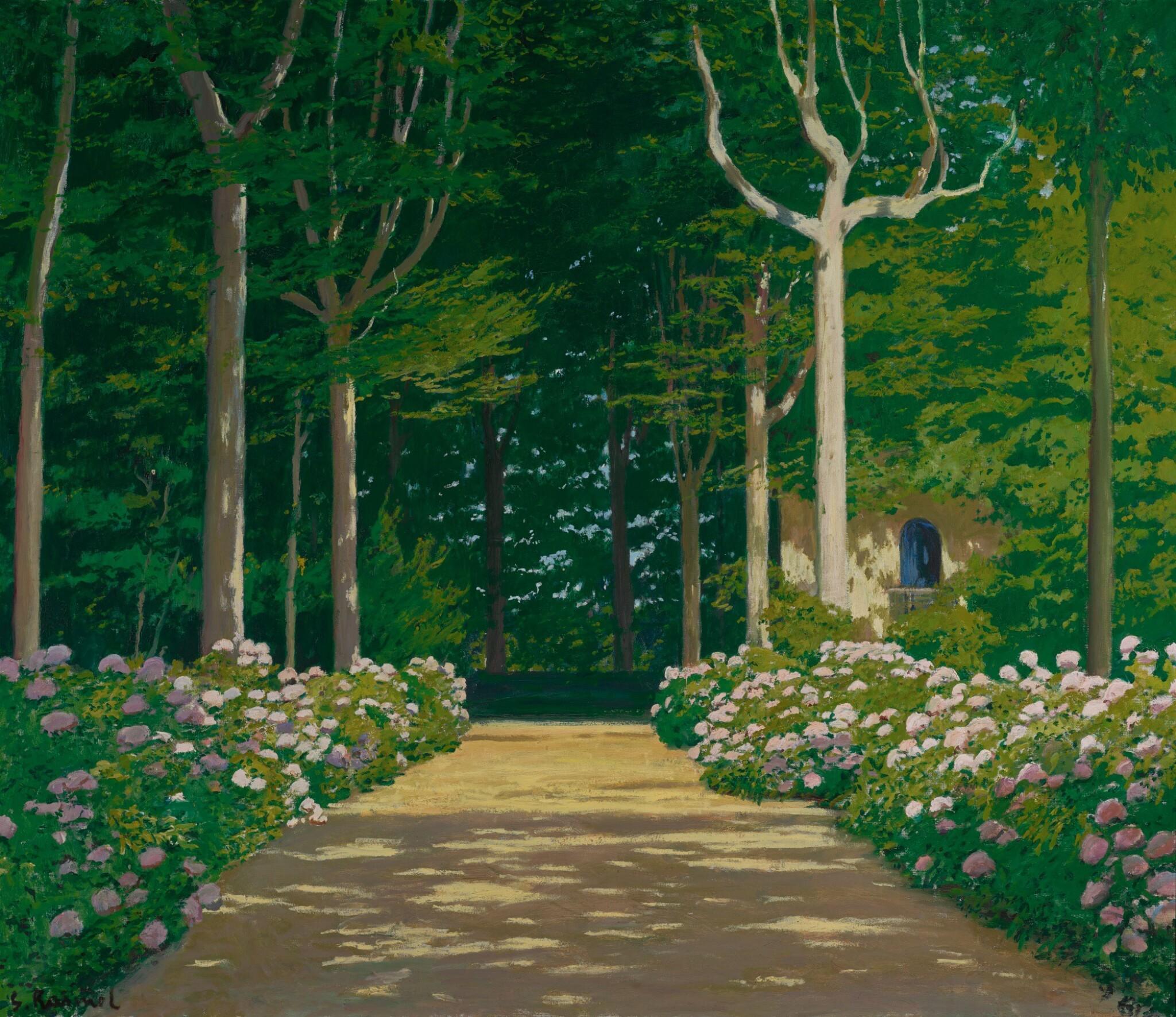SANTIAGO RUSIÑOL   Caminal d'hortènsies (Hydrangeas on a Garden Path)