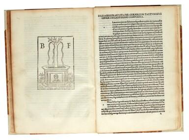 View 1. Thumbnail of Lot 260. Tacitus, Opera, Venice, 1497, later half vellum.
