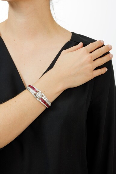 BRACELET RUBIS ET DIAMANTS | RUBY AND DIAMOND BRACELET