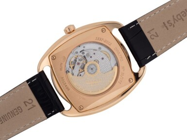View 3. Thumbnail of Lot 98. HERMÈS | DRESSAGE, REF DR5.77C LIMITED EDITION PINK GOLD WRISTWATCH CIRCA 2012.