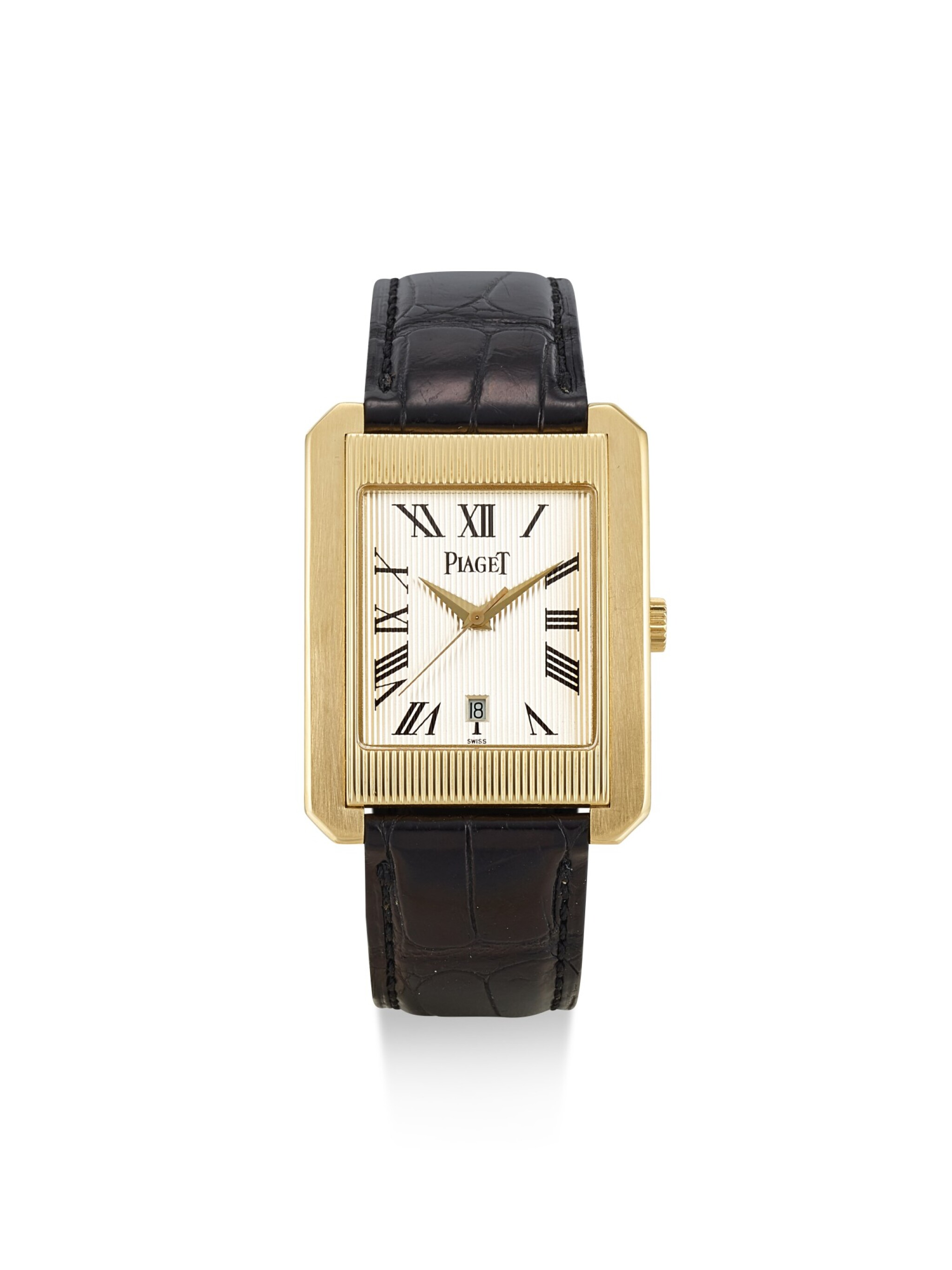 PIAGET   PROTOCOLE, REFERENCE 26100, A YELLOW GOLD WRISTWATCH WITH DATE, CIRCA 2000