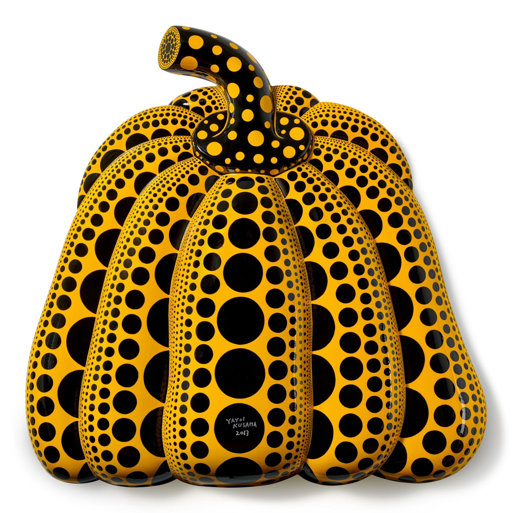 View full screen - View 1 of Lot 1136. Yayoi Kusama 草間彌生   I Carry on Living with the Pumpkins 我繼續與南瓜相伴生活.