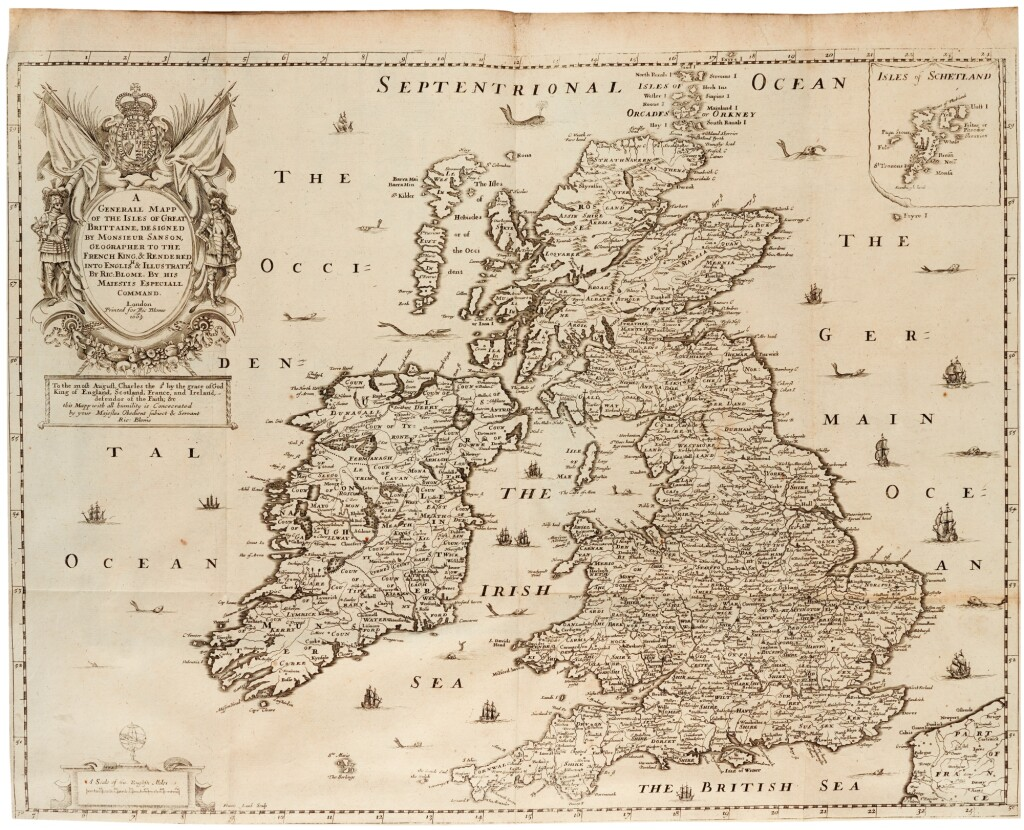BLOME, RICHARD | BRITANNIA: OR, A GEOGRAPHICAL DESCRIPTION OF THE KINGDOMS OF ENGLAND, SCOTLAND, AND IRELAND. 1673