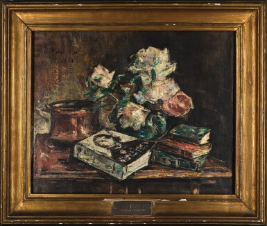 View 2. Thumbnail of Lot 56. GHEORGHE PETRASCU | STILL LIFE WITH ROSES AND BOOKS.