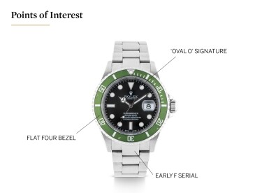 View 5. Thumbnail of Lot 1. ROLEX | 'KERMIT FLAT 4' SUBMARINER, REF 16610LV STAINLESS STEEL WRISTWATCH WITH DATE AND BRACELET CIRCA 2003 .
