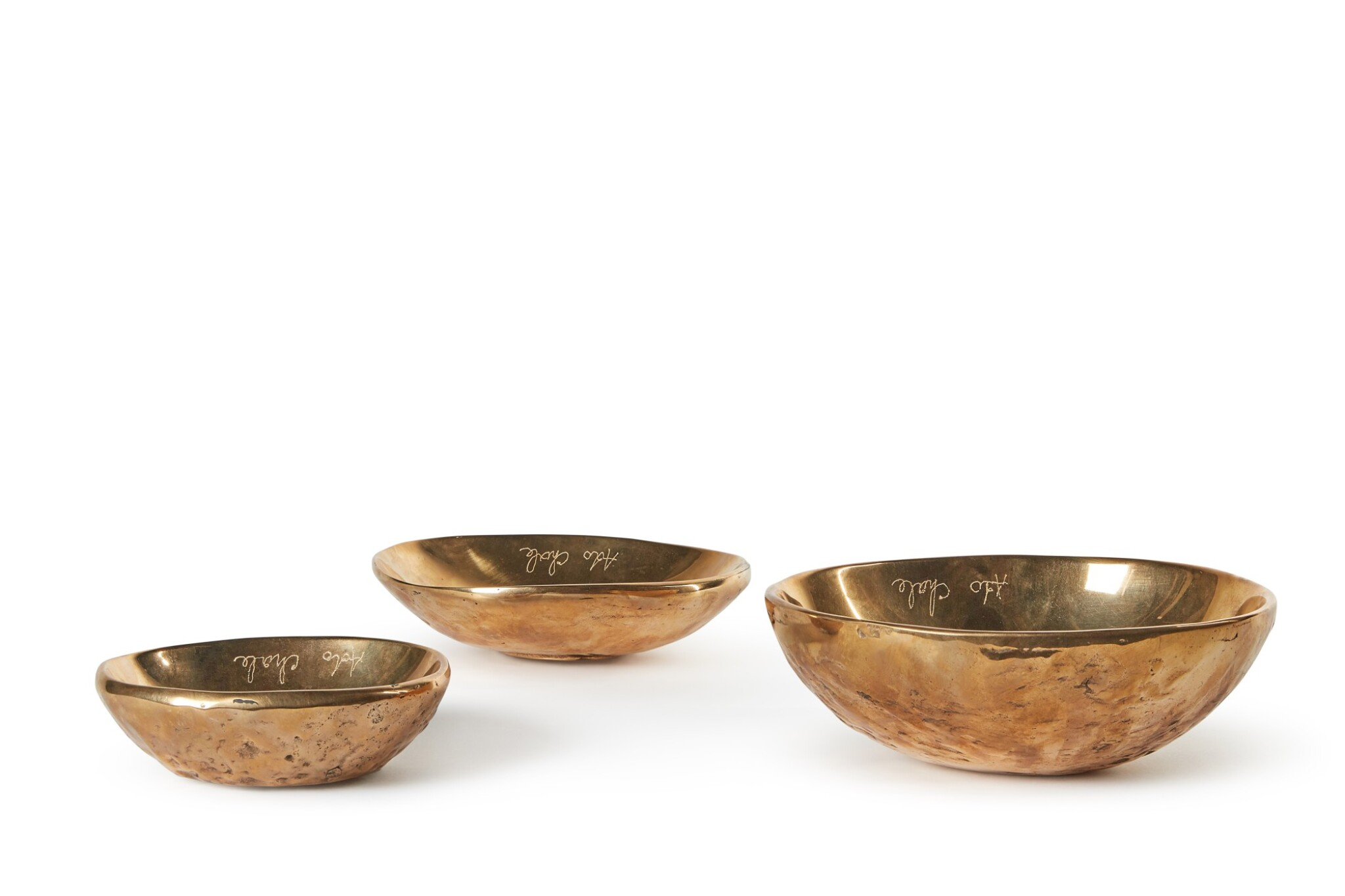 View full screen - View 1 of Lot 186. ADO CHALE | SET OF THREE BOWLS.