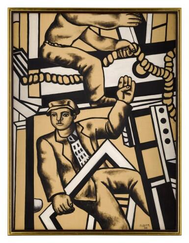 View 2. Thumbnail of Lot 106. Étude pour les constructeurs | 《建築工人習作》.