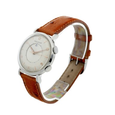View 2. Thumbnail of Lot 240. MEMOVOX A STAINLESS STEEL ALARM WRISTWATCH, CIRCA 1960.