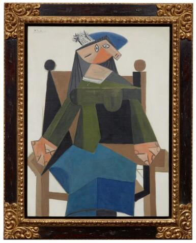 View 2. Thumbnail of Lot 120. Femme assise dans un fauteuil |《扶手椅上的女子坐像》.