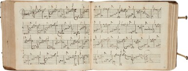 View 5. Thumbnail of Lot 64. Lute. Highly important early seventeenth-century manuscript of Italian and French lute music in French tablature, c.1620.