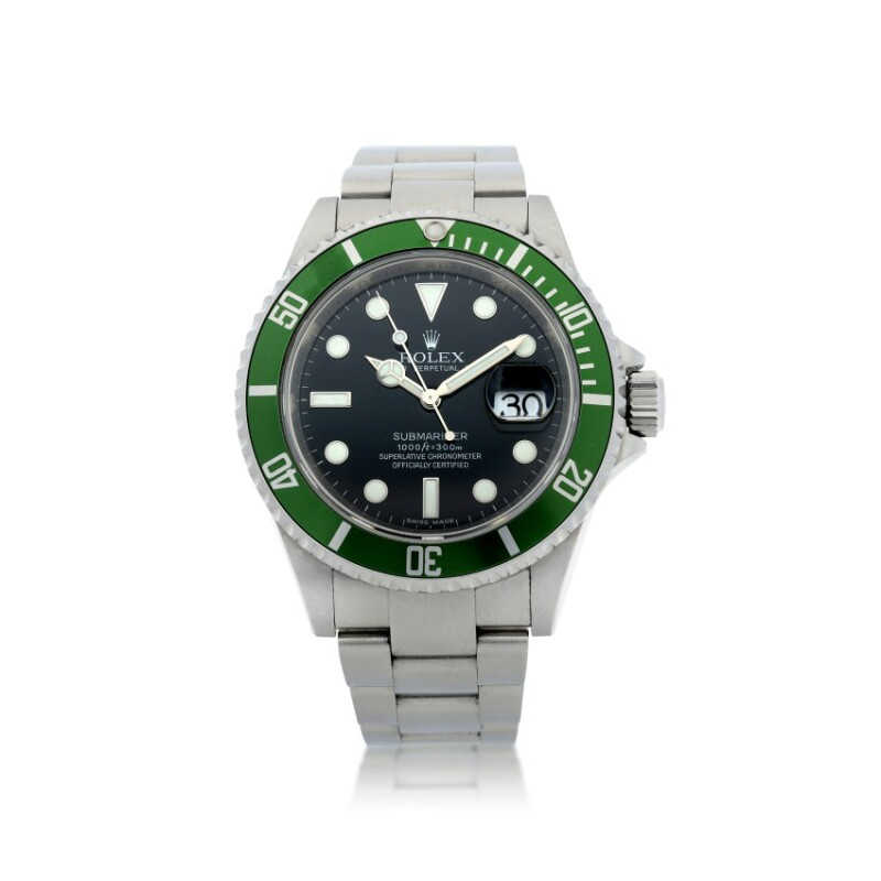 Submariner 'Kermit', Reference 16610T  A Stainless Steel Automatic Wristwatch with Date and Bracelet, circa 2007