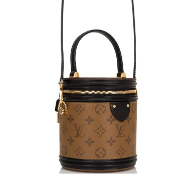 View 2. Thumbnail of Lot 87. Louis Vuitton Cannes Bag of Reverse Monogram Canvas with Golden Brass Hardware.