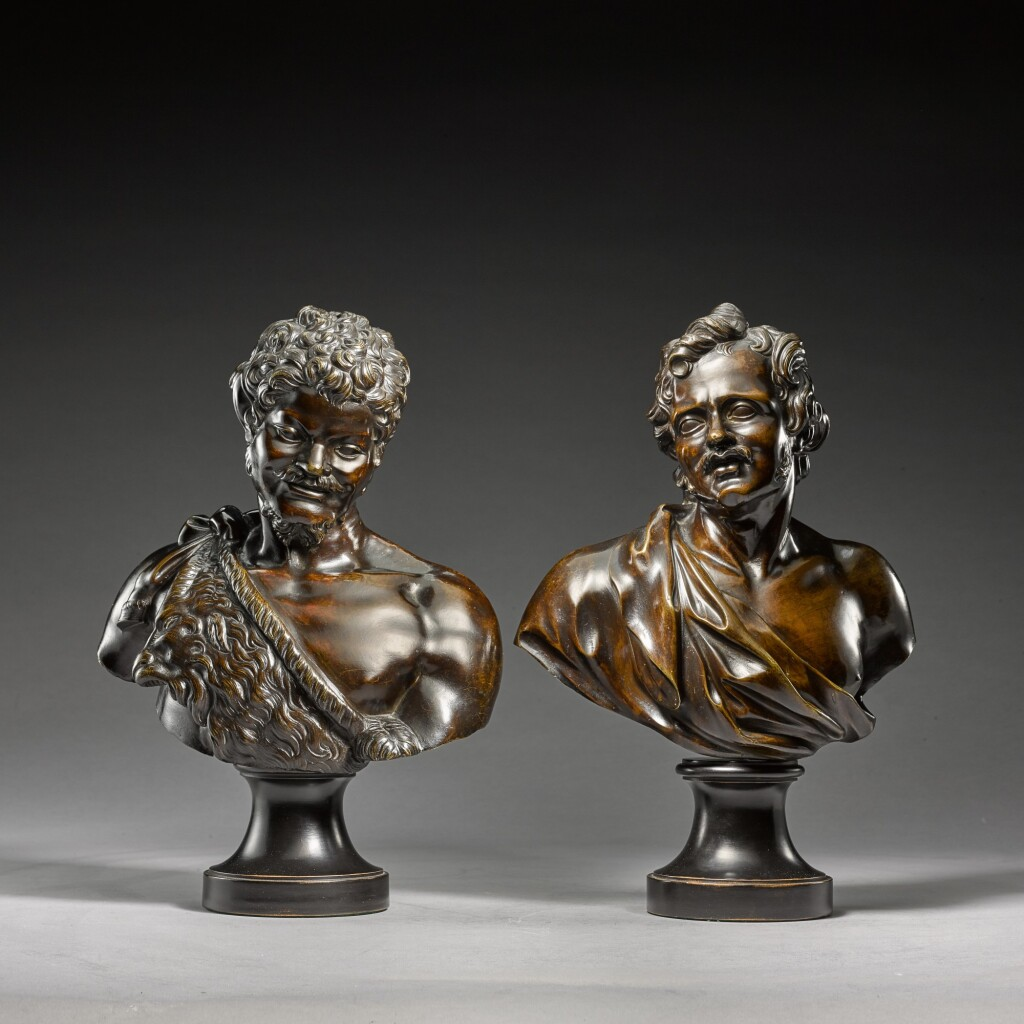 AFTER MODELS ATTRIBUTED TO MASSIMILIANO SOLDANI-BENZI (1656-1740) | PAIR OF BUSTS OF A FAUN AND A YOUNG MAN