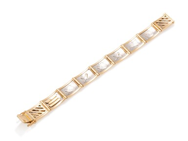 View 4. Thumbnail of Lot 4. TIFFANY & CO. | GOLD AND PLATINUM BRACELET.