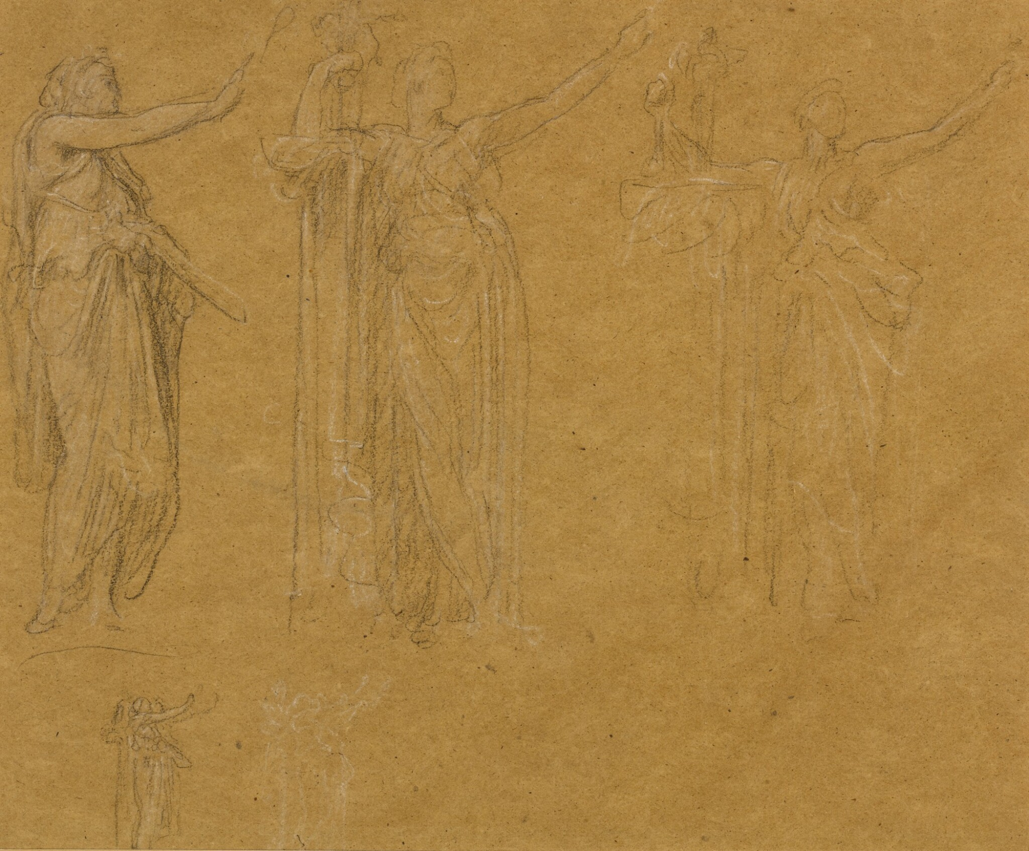 View full screen - View 1 of Lot 19. Figure Studies for the Royal Academy Jubilee Address of 1887.
